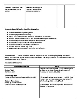 Ready Gen Grade 1 Unit 1 Module A Curriculum Map