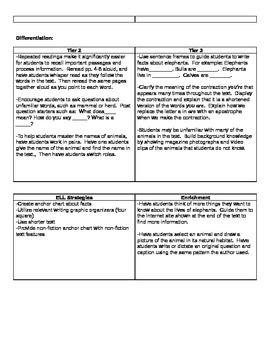 Ready Gen Grade 1 Unit 1 Module B Curriculum Map