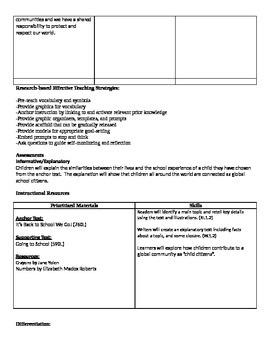 Ready Gen Grade 1 Unit 2 Module B Curriculum Map