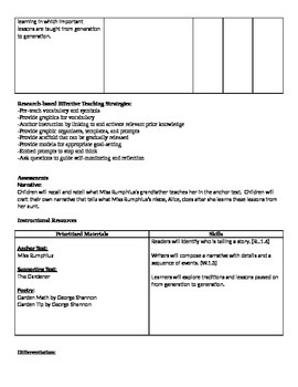 Ready Gen Grade 1 Unit 4 Module A Curriculum Map