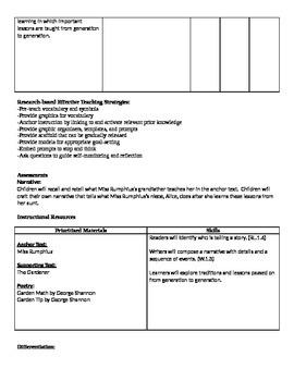 Ready Gen Grade 1 Unit 4 Module A Curriculum Map