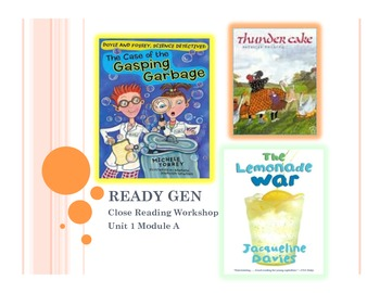 Ready Gen Grade 3-Unit 1 Module A Close Workshop and Extend Concepts