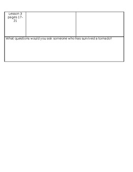 Ready Gen Grade 3 Unit 3 Module A Lessons 1-3 Chart the Story Worksheet