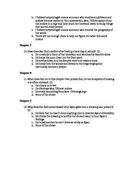 Ready Gen Grade 5 Spadefoot Toads Chapters 1-9 Test