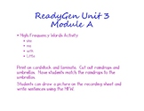 Ready Gen High Frequency Words  - Unit 3 Module A