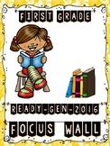 Ready Gen FIRST GRADE 2016 Focus Wall (HAWAIIAN FLORAL Theme) - MEGA BUNDLE