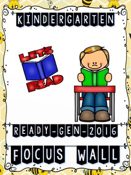 Ready Gen Kindergarten 2016 Focus Wall (Bumblebee Theme) - MEGA BUNDLE