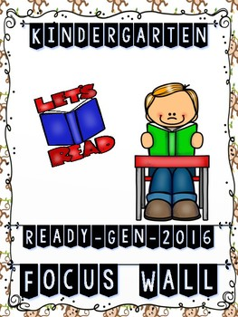 Ready Gen Kindergarten 2016 Focus Wall (Monkey Theme) - MEGA BUNDLE