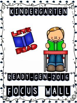 Ready Gen Kindergarten 2016 Focus Wall (NAUTICAL Theme) - MEGA BUNDLE
