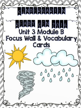 Ready Gen Kindergarten 2016 Focus Wall - Unit 3 Module B