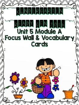 Ready Gen Kindergarten 2016 Focus Wall - Unit 5 Module A
