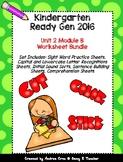 Ready Gen Kindergarten 2016 - Module 2B Worksheet Set