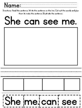 Ready Gen Kindergarten 2016 - Module 3A Worksheet Set