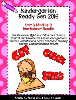 Ready Gen Kindergarten 2016 - Module 3B Worksheet Set
