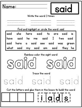 Ready Gen Kindergarten 2016 - Module 5B Worksheet Set