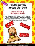 Ready Gen Kindergarten 2016 - Module 6A Worksheet Set