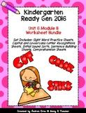 Ready Gen Kindergarten 2016 - Module 6B Worksheet Set