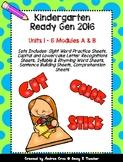 Ready Gen Kindergarten 2016 - Worksheet Bundle for Units 1
