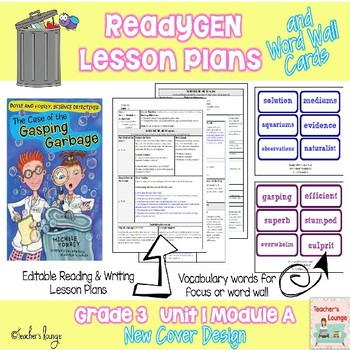 ReadyGen Lesson Plans Unit 1 Module A  - Word Wall Cards - EDITABLE -Grade 3