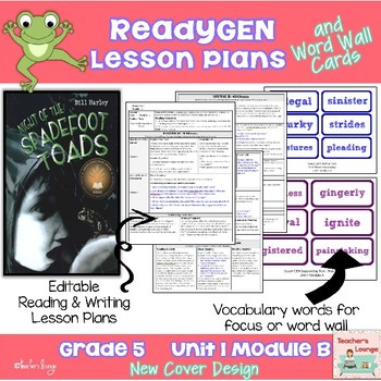 ReadyGen Lesson Plans Unit 1 Module A  - Word Wall Cards - EDITABLE -Grade 5