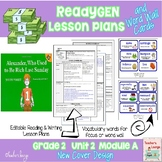 ReadyGen Lesson Plans Unit 2 Module A  - Word Wall Cards -