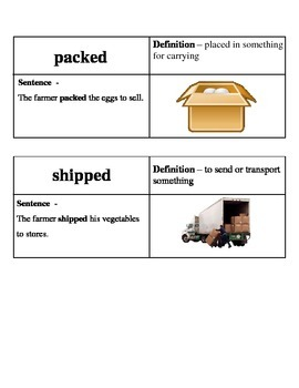 Ready Gen On The Farm Vocabulary Lessons 5-8