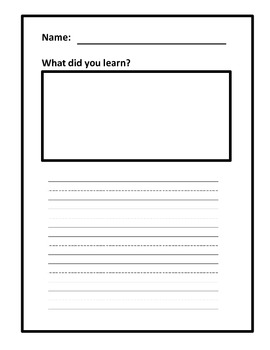 ReadyGen First Read of the Lesson Extended Student Response Templates - Grade 1