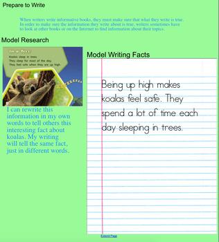 Ready Gen SMART Notebook Grade 1 Unit 1 Module B Writing 2016/17