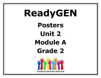 ReadyGen Second Grade Unit 2 Module A Posters