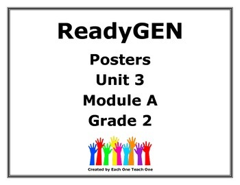 ReadyGen Second Grade Unit 3 Module A Posters