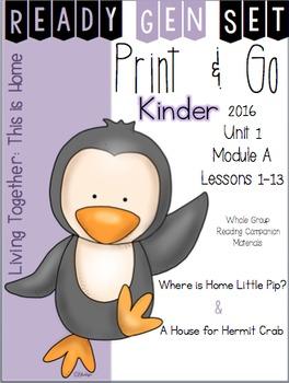 Ready Gen Set Print & Go Unit 1 Module A Kinder Bundle