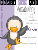 Ready Gen Set Print & Go Unit 1 Module A Kinder Vocabulary