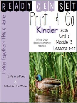 Ready Gen Set Print & Go Unit 1 Module B Kinder Bundle