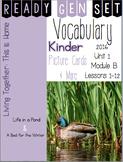 Ready Gen Set Print & Go Unit 1 Module B Kinder Vocabulary