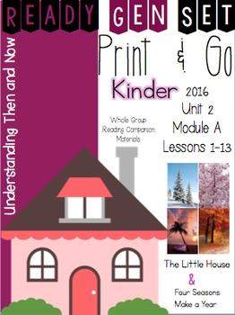 Ready Gen Set Print & Go Unit 2 Module A Kinder Bundle