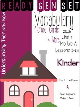 Ready Gen Set Print & Go Unit 2 Module A Kinder Vocabulary