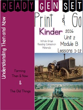 Ready Gen Set Print & Go Unit 2 Module B Kinder Bundle
