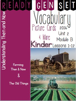 Ready Gen Set Print & Go Unit 2 Module B Kinder Vocabulary
