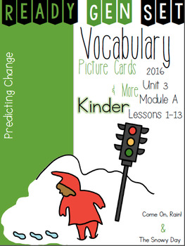 Ready Gen Set Print & Go Unit 3 Mod A Kinder Vocabulary