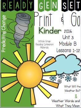 Ready Gen Set Print & Go Unit 3 Mod B Kinder Bundle