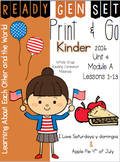 Ready Gen Set Print & Go Unit 4 Mod A Kinder Bundle