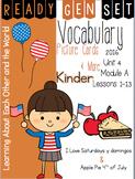 Ready Gen Set Print & Go Unit 4 Mod A Kinder Vocabulary