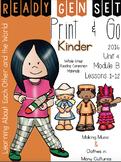 Ready Gen Set Print & Go Unit 4 Mod B Kinder Bundle