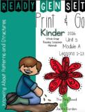 Ready Gen Set Print & Go Unit 5 Mod A Kinder Bundle