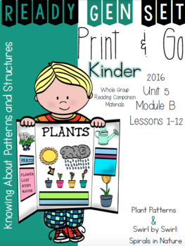 Ready Gen Set Print & Go Unit 5 Mod B Kinder Bundle