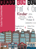 Ready Gen Set Print & Go Unit 6 Mod B Kinder Bundle