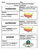 Ready Gen Theodore Roosevelt Vocabulary Lessons 1-4