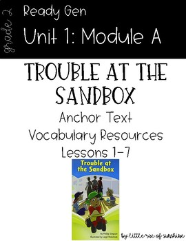 Ready Gen Trouble at the Sandbox Vocabulary