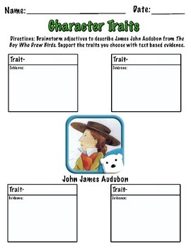 Ready Gen - Unit 1 - Character Trait Graphic Organizers - 4th Grade