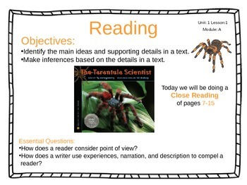 ReadyGen 2014-15 Unit 1 Module A - EDITABLE PowerPoint Lessons - Grade 4